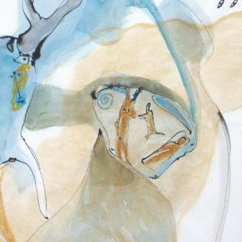 Visioen, OI inkt, aquarel en pastelkrijt op papier, 70:100cm,2011