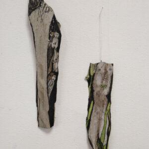 Spaandervolk, tekeningen op hout