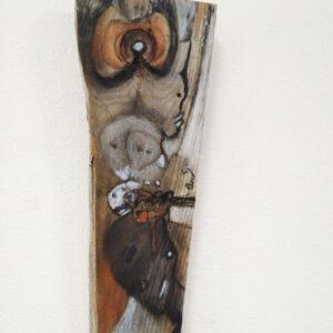 De Gezusters, tekening op hout