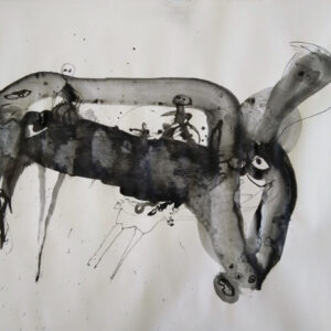 Hondje: gewassen pentekening